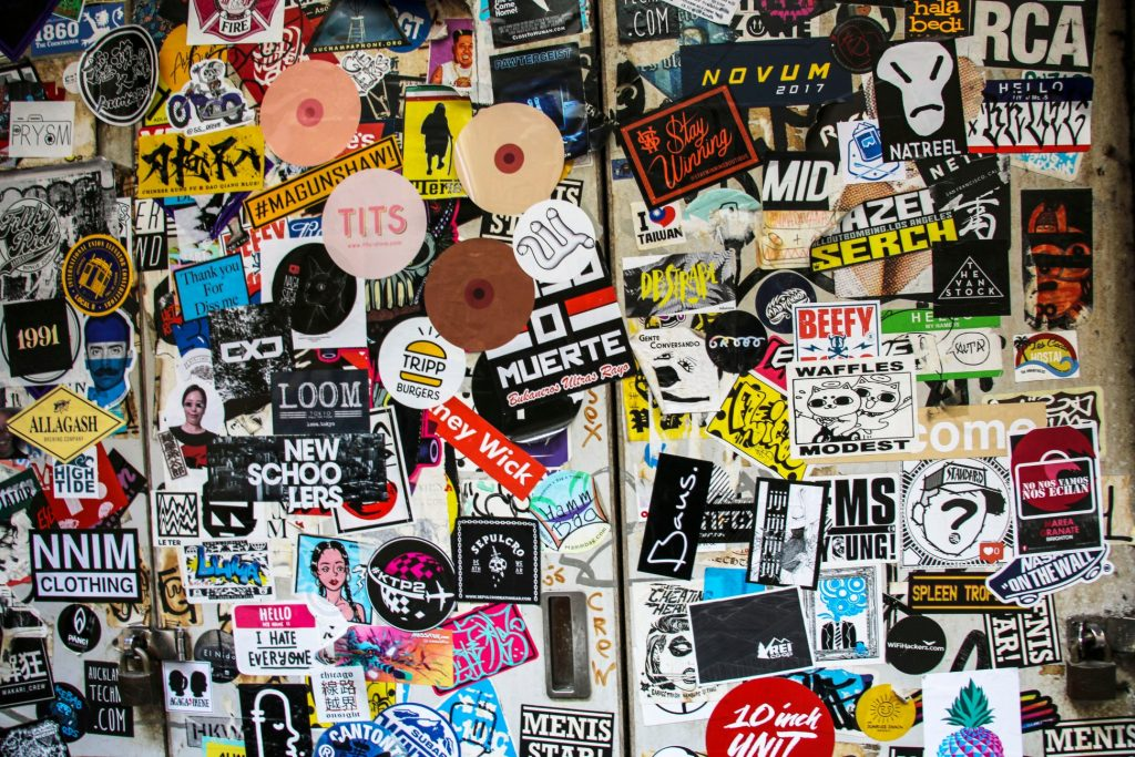 Using stickers to promote your band or musician website
